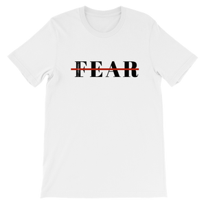 white cotton graphic Fearless scripture tshirt graphic