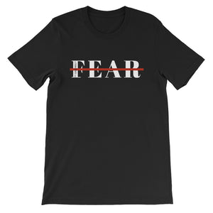 Black short sleeve cotton graphic Fearless scripture tshirt graphic for Christian clothing