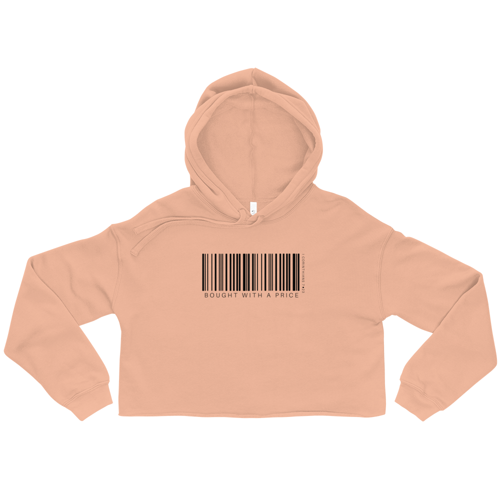 Barcode Bought w/ a Price Price Crop Hoodie