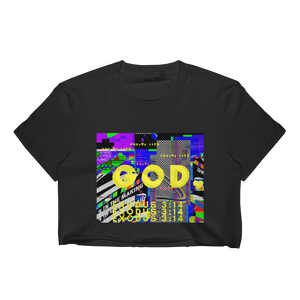 God Tee - Women's Crop Top Black or White