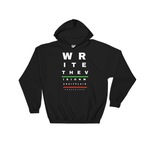 Write The Vision Men`s Hooded Sweatshirt Black