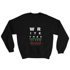 Write The Vision Habakkuk 2:2 Black Sweatshirt, comfortable, Dope, Apparel.