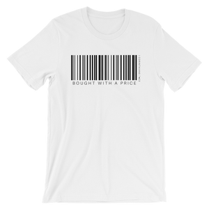 Barcode Bought w/ a Price Short-Sleeve Unisex T-Shirt White