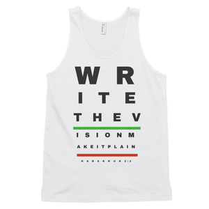 Write The Vision Classic tank top (unisex) White