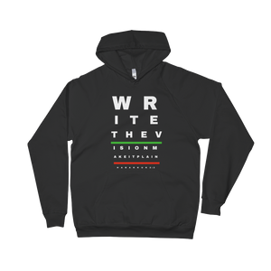 Write The Vision Unisex California Fitted Fleece Hoodie Black