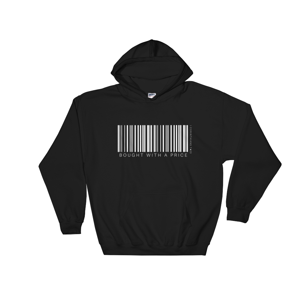 Barcode Bought w/ a Price Hooded Sweatshirt