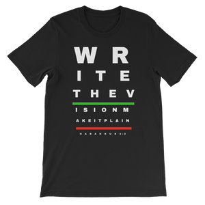 Write The Vision Short-Sleeve Unisex T-Shirt Black