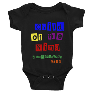 Child of the King Infant Bodysuit Black or White