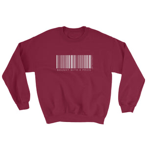 Barcode Bought w/a Price Unisex Sweatshirt Maroon
