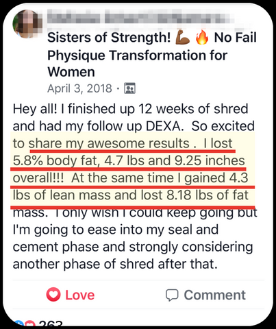 No Fail System Shred Fat Loss Results