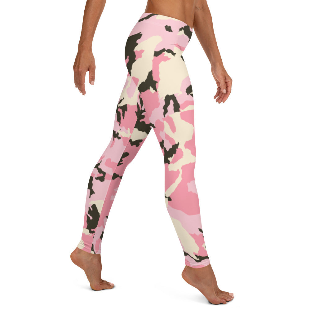 Power In Pink Camo Performance Leggings