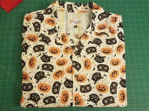 Men's Aloha Shirt Halloween Cat