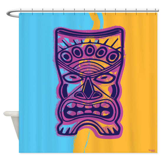 Tiki Shower Curtain
