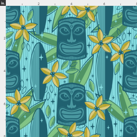 Men's Spoonflower Fabric Aloha Shirt