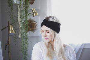 Black wide headband - Crunchy Love Co.