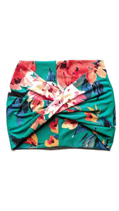 Kelly Floral Wide Headband - Crunchy Love Co.