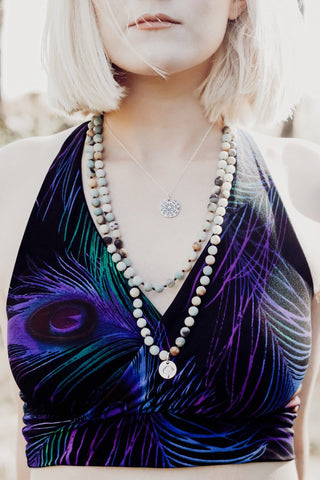 Peacock Bikini Top - Crunchy Love Co.