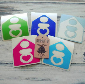 Home Birth Vinyl Decal - Crunchy Love Co.