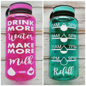 Drink more Water Make More Milk - 34 OZ. Jug - Crunchy Love Co.