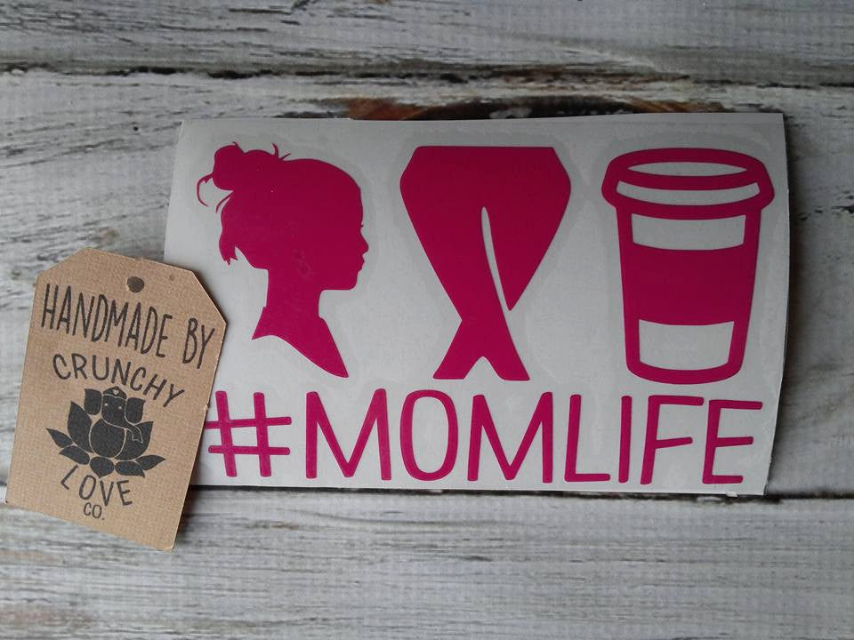 Mom Life Vinyl decal - Crunchy Love Co.