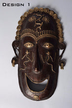 Brass Metal Good Luck Mask - Tribal Dhokra Art DBA01-1 - Simply Roka