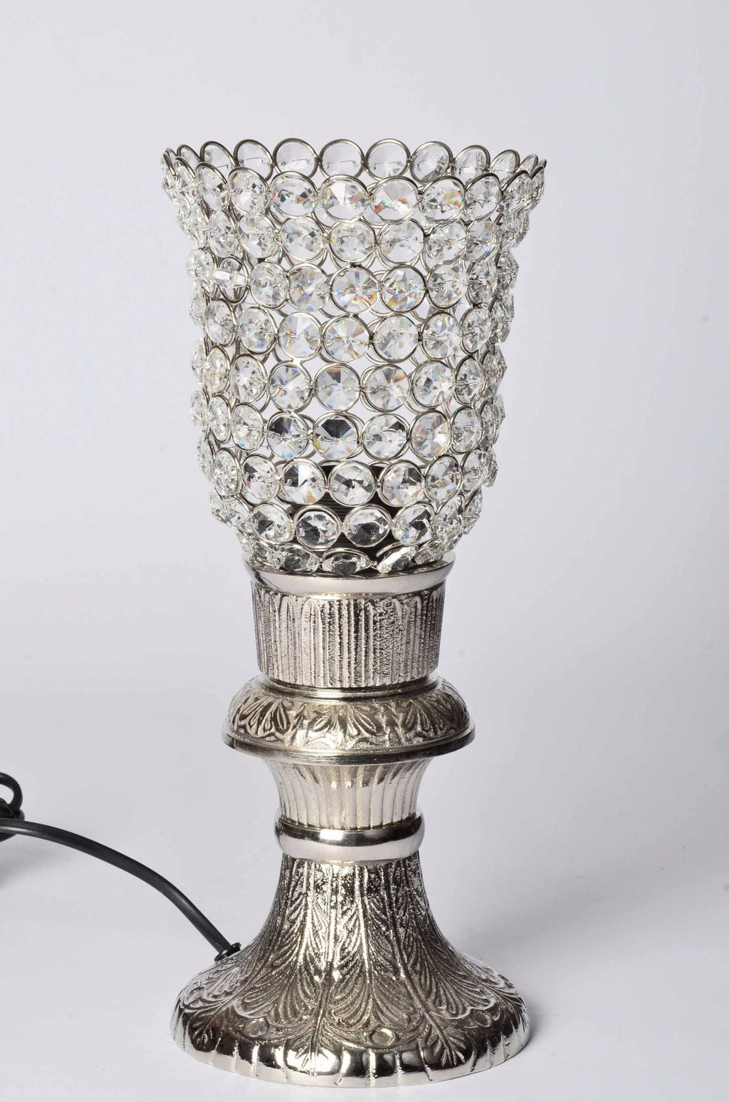 Ica - Glass Crystal Beads Table Lamp - Solid Stand Simply Roka