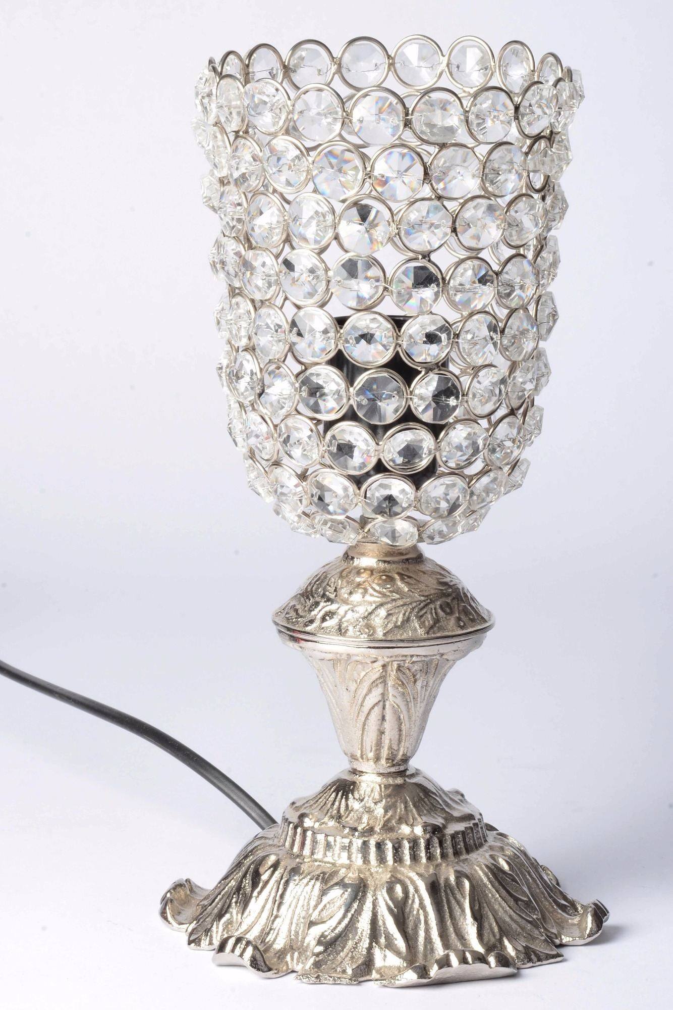 Arelin - Glass Crystal Beads Table Lamp - Wine Glass Simply Roka