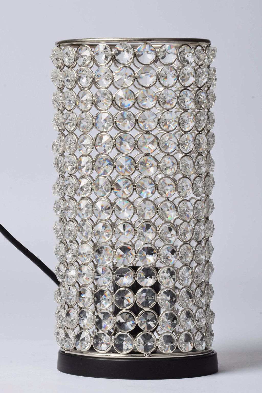 Delilah - Glass Crystals Beads Table Lamp - Column Simply Roka