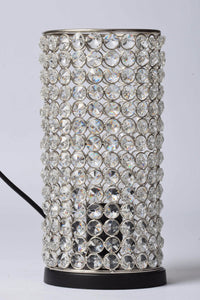 Delilah - Glass Crystals Beads Table Lamp - Column - Simply Roka