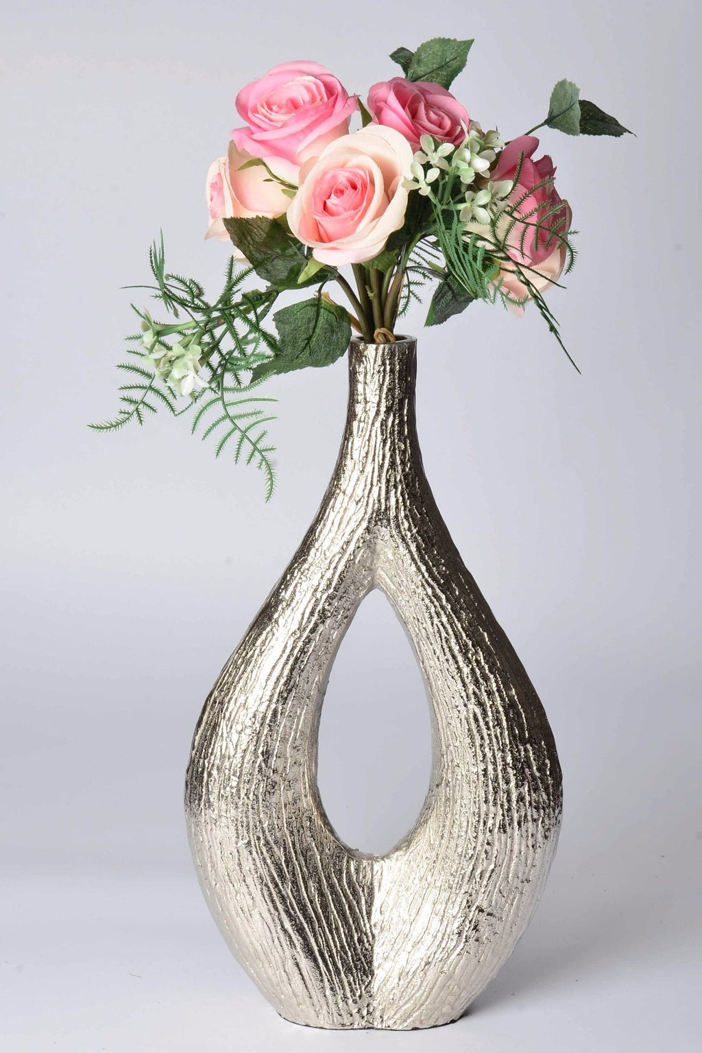 Woodpecker - Botanics Vase - Brushed Aluminium - Simply Roka