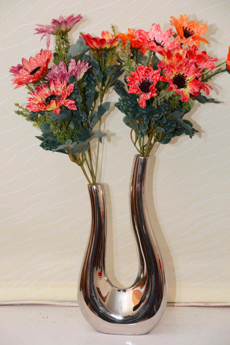 Galanthus - Modern Vase - Twin towers | Very elegant vase for artificial flowers, floor standing vase, living room decorative vase