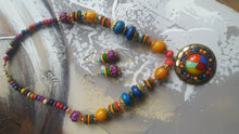 Multi-coloured Necklace and Earrings Set - #J809 - Simply Roka