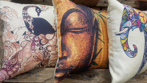 Cushion Cover - Buddha Half-faced - Simply Roka