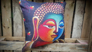 Cushion Cover - Buddha Head Multi-coloured Simply Roka