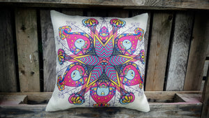 Cushion Cover - Abstract Peacock Simply Roka