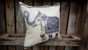 Cushion Cover - Rajasthani Elephant Simply Roka