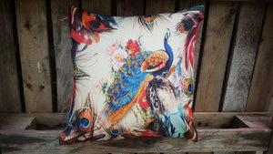 Cushion Cover - Colourful Peacock Simply Roka