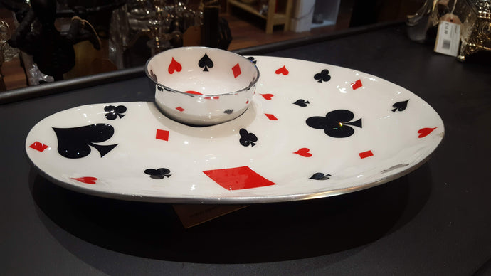 Deck of Cards - Serving Platter with Dip Bowl - Simply Roka