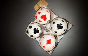 Deck of Cards - Enamelled Set of Square Serving Platter with 4 Dip Bowls Simply Roka