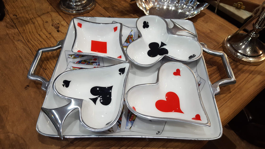 Deck of Cards - Enamelled Serving Set Simply Roka