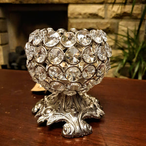 Glass Crystal Tealight - Small Globe Simply Roka