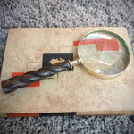Brass Magnifying Glass - Wood Handle Simply Roka