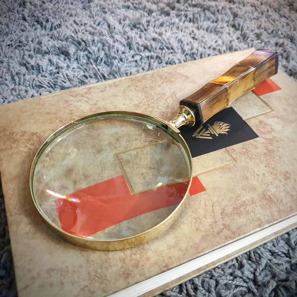 Brass Magnifying Glass - Bone Handle Simply Roka