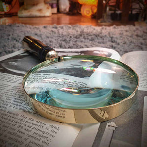 Brass Magnifying Glass - Brown Handle Simply Roka