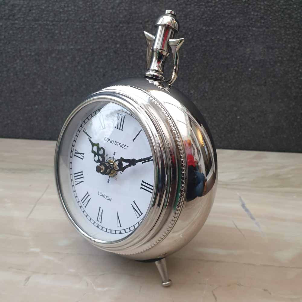 Aluminium Pocket Watch Desk and Table Clock Simply Roka
