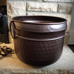 Brown Metal Planter in 3 sizes Simply Roka
