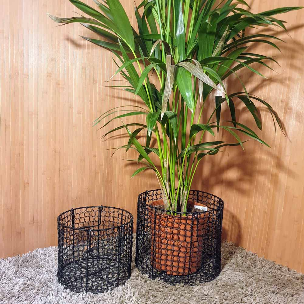 Black Mesh Wire Basket / Planter in 2 sizes Simply Roka
