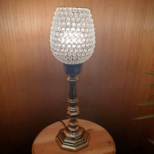 Ojala - Tall Glass Crystal Table Lamp - Octagonal Base Simply Roka