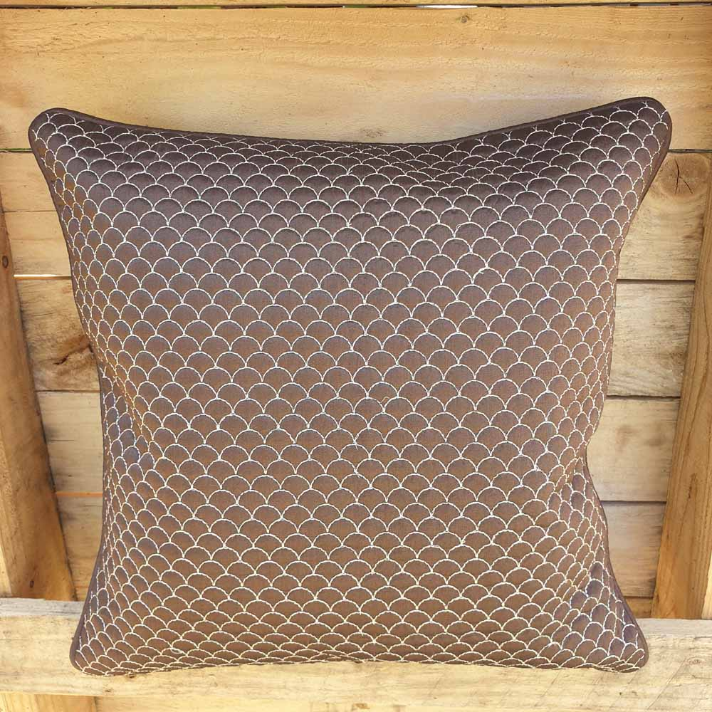 Cushion Cover - Brown with Scale design Simply Roka