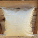 Cushion Cover - Cream Leather effect Simply Roka